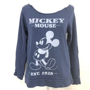 Mickey Mouse Off The Shoulder Shirt